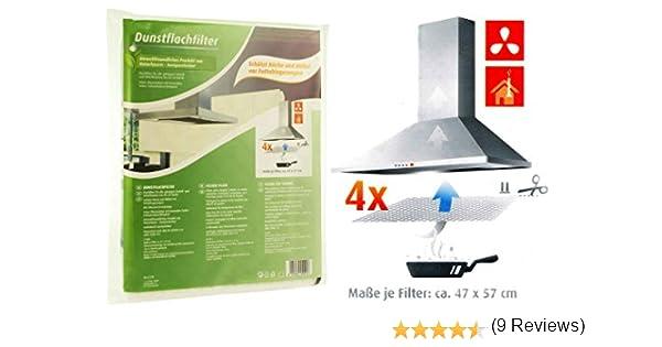 4 filtros planos para campana extractora, de fieltro, filtro de polvo, filtro de grasa, cambio de filtro: Amazon.es: Hogar