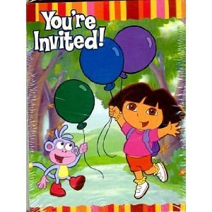 Dora & Friends 8 Invitations and 8 Thank You Postcards