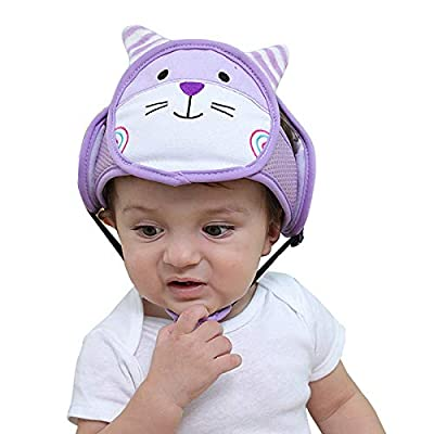 Baby Adjustable Safety Helmet Infant Head Protector Helmet Breathable Head Guard Protection Cap Harnesses Hat for Infant Toddlers