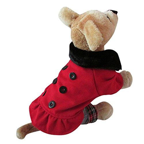 VOWSVOWS Hundekostüme Hundemantel Weihnachtsmannkostüm Pullover Kleider Bekleidung Hemd