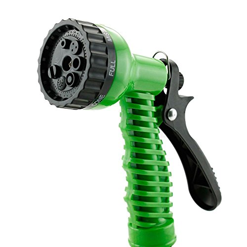 Feet Expandable Flexible Garden Water Hose W/ Spray Nozzle, Seven Built-In Spray Settings With Premium Durable Material (75 Feet, Green) (1/2 2in 1 Baseball)
