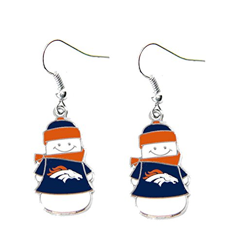 Sports Team Denver Broncos Snowman Dangle Charm Logo Earring Set