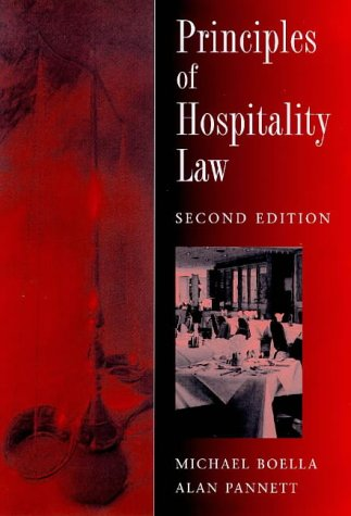 Principles of Hospitality Law by Michael Boella, Alan Pannett