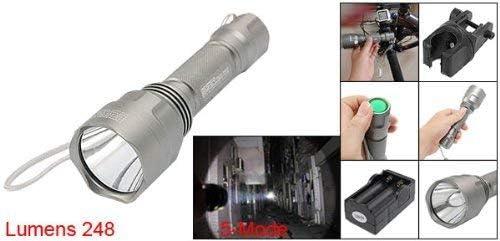 OUPPENG Deal Mux 1WHT LED Torch Bike Gray Headlight w Holder Night Underground Work