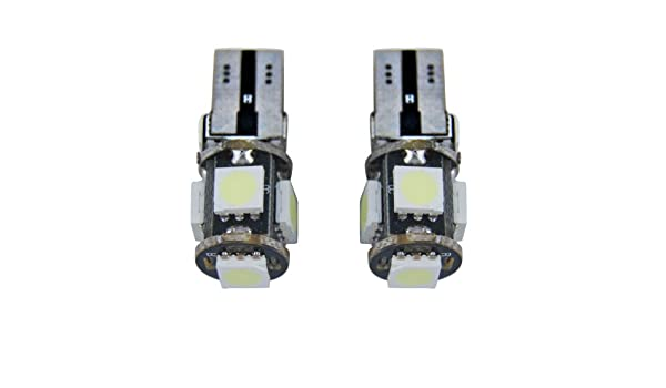 Jambo dos pcs W5 W T10 501 Resistencia Decodificar error free Canbus Xenon blanco 5050 SMD LED 360 Degree iluminación lateral luz de placa de licencia ...