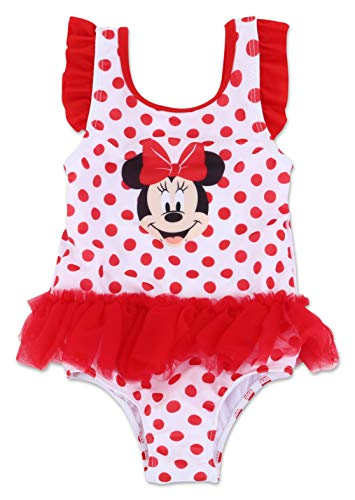 Infant Girl Minnie Mouse One Piece Swimsuit 12M