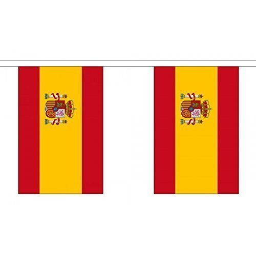 3 Metres 10 (9'''' x 6'''') Flag Spain Spanish State Crest 100% Polyester Material Bunting Ideal Party Decoration For Street House Pubs Clubs Schools by UKFlagShop
