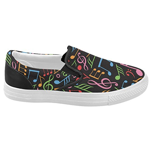 Interestprint Musique Note Occasionnel Slip-on Toile Femmes Baskets Chaussures