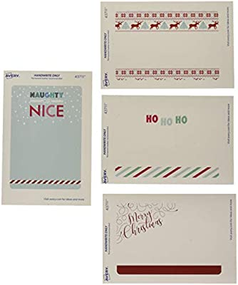 Avery Christmas Labels.Avery Assorted Christmas Labels 3 X 4 1 2 4 Designs