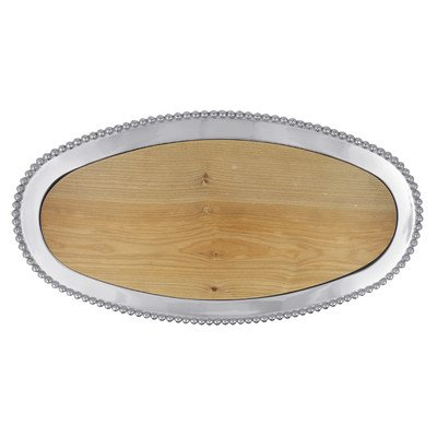 String of Pearls Maple Oval Wood Server