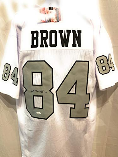 Antonio Brown Oakland Raiders Signed Autograph Color Rush Custom Jersey JSA Witnessed Certified
