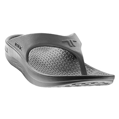 Telic Energy Flip Flop - Comfort Sandals for Men and Women, Dolphin Gray, Women's 12 / Men's 11 ()