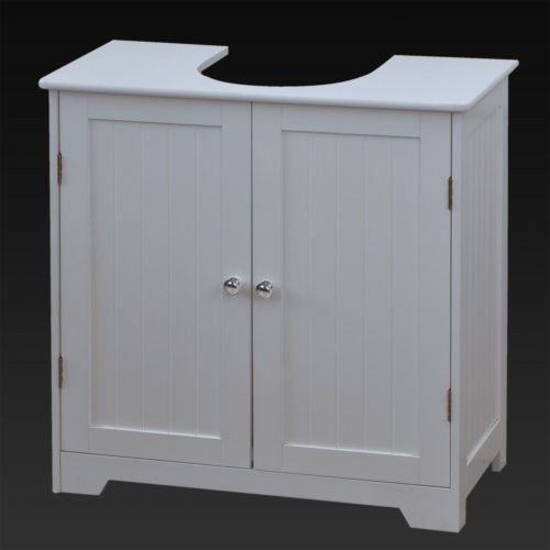 Marko Bathroom White Under Sink Basin Cabinet Cupboard Bathroom Furniture Storage Unit & Under Basin Cabinet: Amazon.co.uk