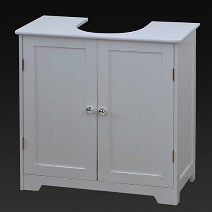 Excellent Marko Bathroom White Under Sink Basin Cabinet Cupboard Bathroom Furniture Storage Unit Beutiful Home Inspiration Ommitmahrainfo