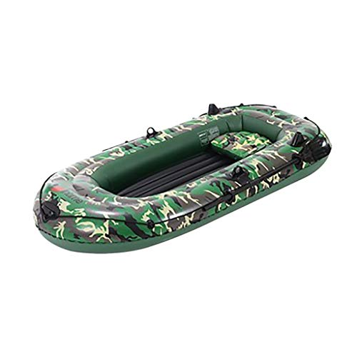 amousa Inflatable Kayak Upgrade 4 People Thickened Inflatable Boat Kayak Inflatable Boat Fishing Boat Camouflage,4-Person 10FT Inflatable Dinghy Boat Fishing Rafting Water Sports