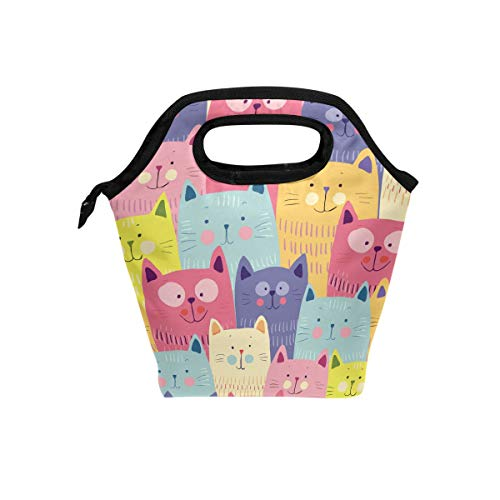 Lunch Bag Colorful Cute Ctas Happy Ranking Insulated Lunchbox Thermal Portable Handbag Food Container Cooler Reusable Outdoors Travel Work School Lunch - Travel Bag Cta