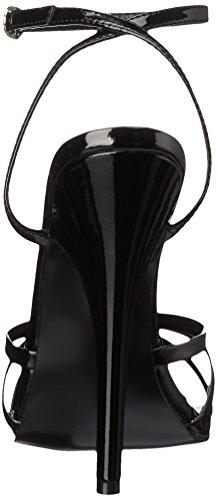 Pleaser EU-DOMINA-108 - Tira de tobillo de material sintético mujer negro - Schwarz (Blk pat)