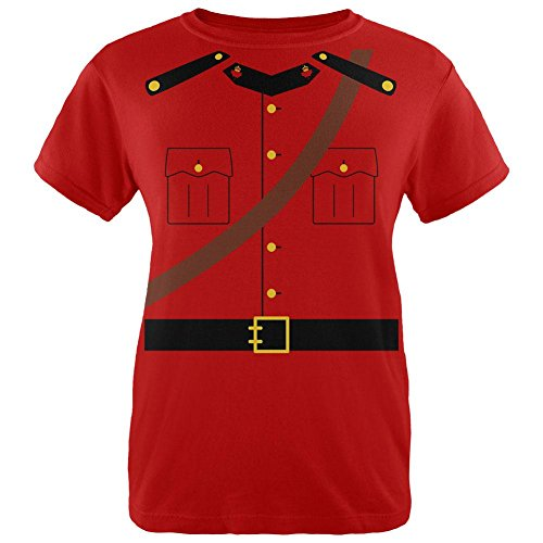 Old Glory Halloween Canadian Mountie Police Costume Womens T Shirt Red - Mountie Costume