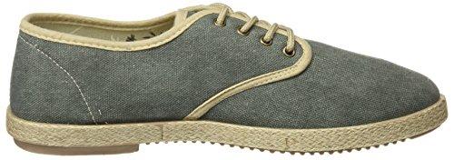 Springfield Yute Washed Cordones, Zapatillas para Hombre Verde (Green)