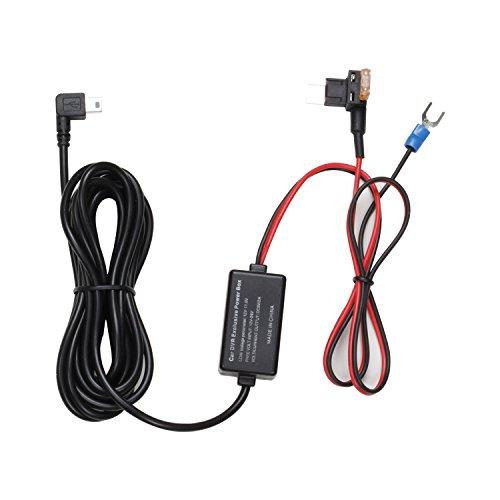 AUTO-VOX Dash Cam 2A Hardwire Kit Mini Fuse Adapter Kit - 12V to 5V for X1 X2 A1 M6 M8 Pruveeo D700 D2Pro G1W & All Mini USB Dashboard Camera Device Car DVR Power Supply - 12.47ft