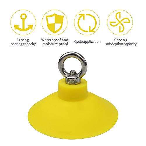Phenfor Pet Bathing Tether Straps with Suction Cup kit – Industrial-Strength Suction Cups for Attaching Dog Bathing Restraints to Grooming Tub Walls (Yellow)
