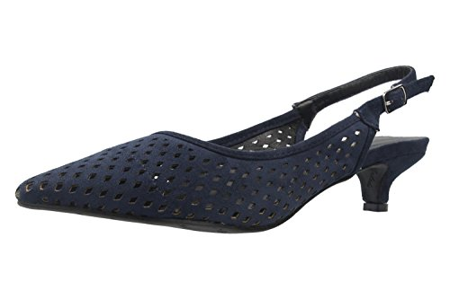 Zapatos azules de punta abierta Andres Machado para mujer OCOg3PYn6