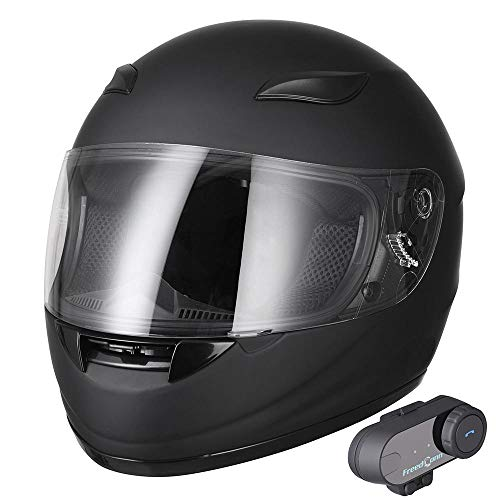 Yescom Bluetooth Motorbike Full Face Helmet Modular Flip Up Helmet with Wireless Headset Intercom MP3 FM DOT