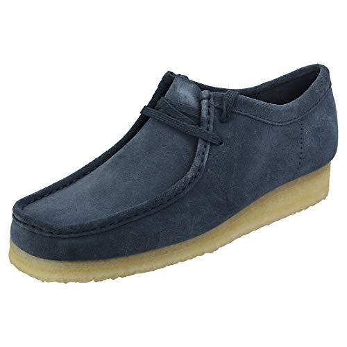 CLARKS Originals Wallabee Mens Deep Blue Shoes-UK 9 / EU 43