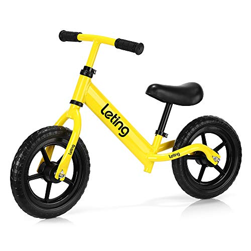 - ACCEWIT Leting Ultra-Light Balance Bike (4.4 lbs) for 2 to 6 Years Old Boys Girls Kids with Carbon Steel Frame, Adjustable Handlebar and Seat, Toddler Walking Bicycle