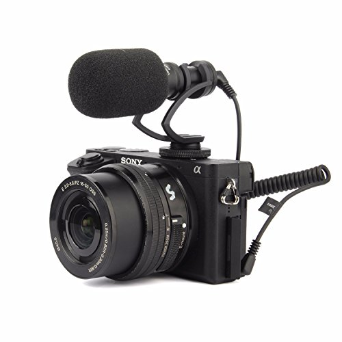 EACHSHOT Comica CVM-VM10 II Cardioid Directional Shotgun Video Microphone for DJI OSMO Smartphone GoPro and Micro Camera with Black Shock-Mount Windscreen Wind Muff and Carrying Case (Black) by EACHSHOT