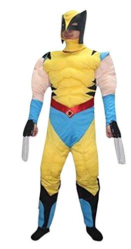 Ace Halloween Adult Men's Muscle X-men Origins Wolverine Costumes (Wolverine Muscle Costume)