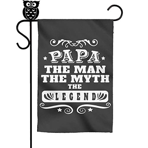 BoDu Papa The Man The Myth The Legend Garden Flag Yard Home Flag 18 x 12.5 Inch