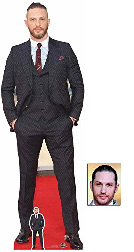 (Fan Pack - Tom Hardy 2018 Blue Shirt Lifesize and Mini Cardboard Cutout / Standup - Includes 8x10 Star Photo)