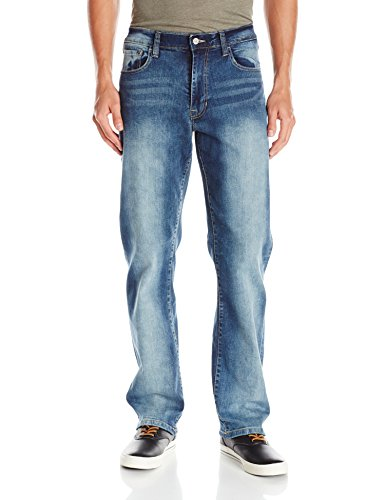Izod Men's Comfort Stretch Relaxed Fit Jean,36x32,Artic ()