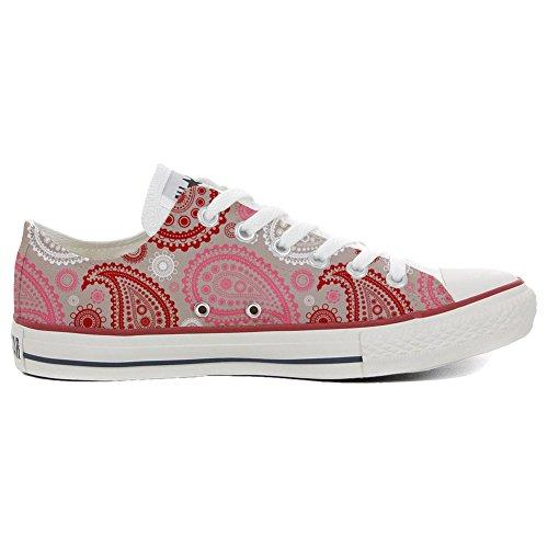 Converse Star Low Personnalisé Red All produit Pink Sneaker Italien Paisley artisanal unisex et Imprimés rrwUAF65qx