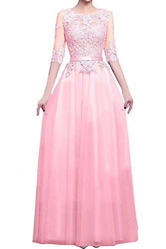 Ballkleider Blau Langarm Abendkleider Tanzenkleider mia Herrlich Rosa Spitze La Langes Brautmutterkleider Braut mit nxwXqpZ6A