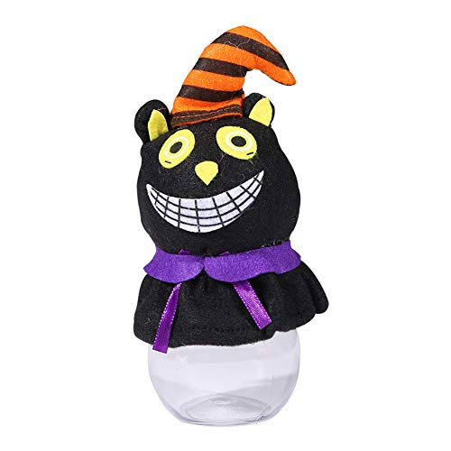 Maserfaliw Halloween Decorations Halloween Pumpkin Cat Party Hotel Candy Can Cookie Jar Transparent Decor Gift - - 50th Anniversary Cookie Jar