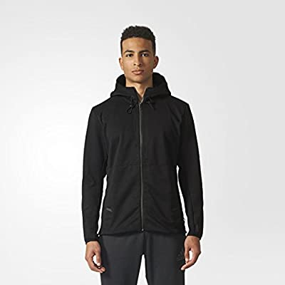 adidas Mens Climaheat Hooded Workout Jacket BR8515_XL - Black