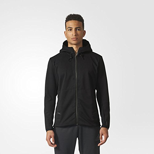adidas Mens Climaheat Hooded Workout Jacket BR8515_XL - Black by adidas