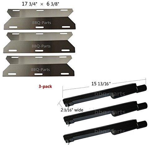 Hongso Jenn Air Gas Grill Repair Kit Replacement Grill Heat Plate and Burner - 3 Pack (CBF301, SPA231) by Hongso