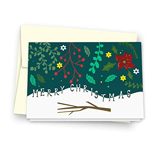Christmas Cards Greeting Cards, Pop Up Cards, 3D Greeting Card (Green) Photo #3