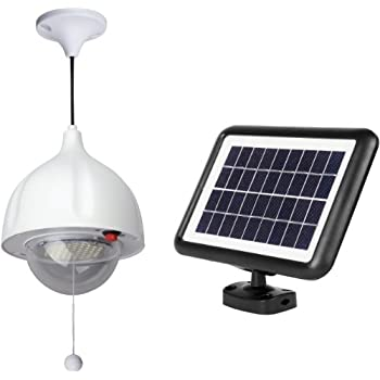 MicroSolar Super Bright - Lithium Battery - 60 LED Solar Shed Light - Power Adjustable