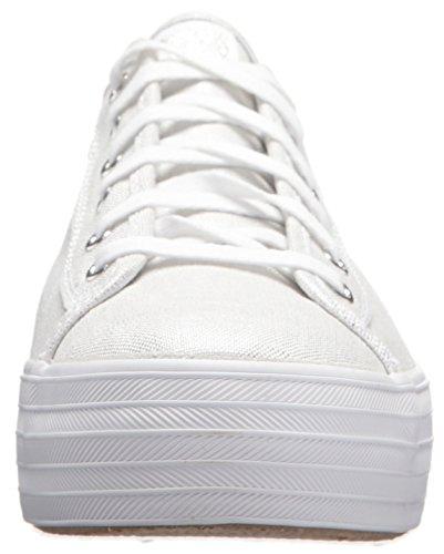 Femme 10 Linen Kick Tpl Blanc Silver Baskets Metallic Keds white wUYqpzx