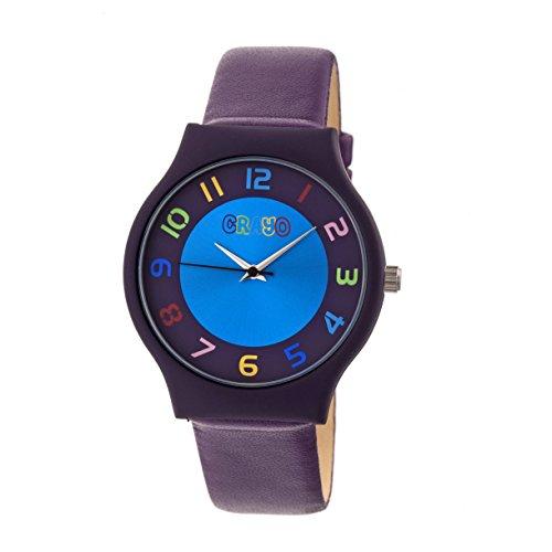 Leatherette-Band Watch (Purple) ()