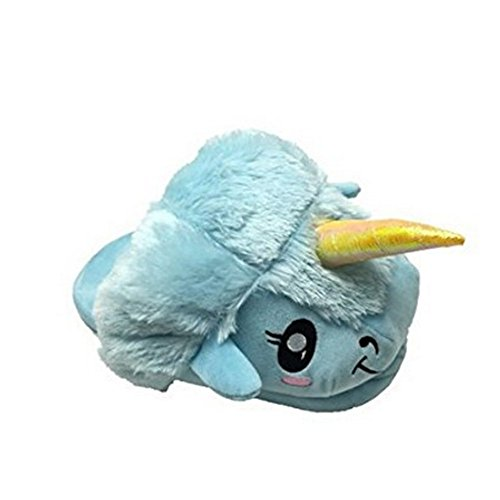 Bleu Unicorn Chaussons Peluche Colorfulworld Licorne Pantoufles qwHzanxTg