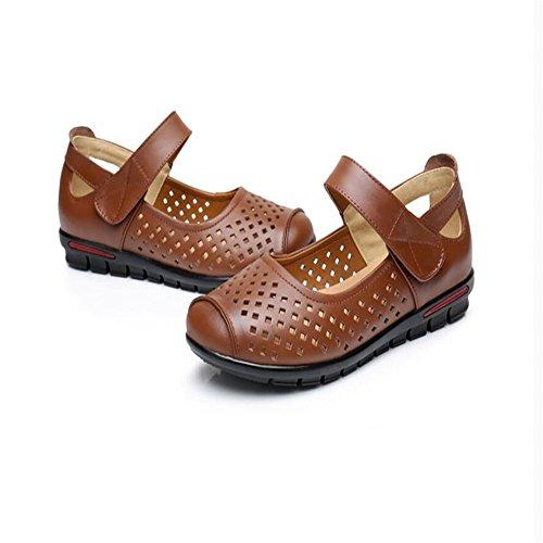 Plana Casual Verano Hueca El Zapatos De Y Brown Primavera Modelos Calzado La Cabeza wOgpRR