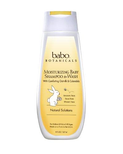Babo botánicos Oatmilk caléndula hidratante champú para bebé y lavado, 8 onzas