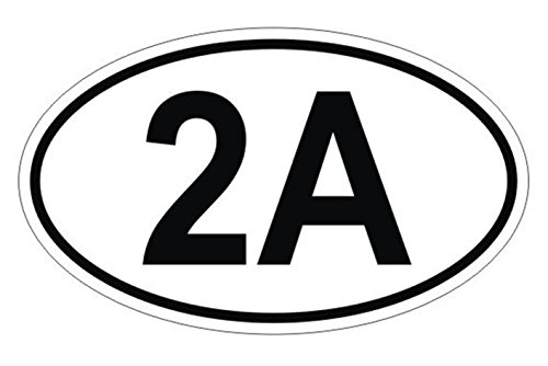 1 Set Magnificent Unique 2A Oval 2nd Amendment Window Stickers Laptop Luggage Hoverboard Patches Funny Outdoor Side Door Signs Security Vinyl Art Sticker Size 3