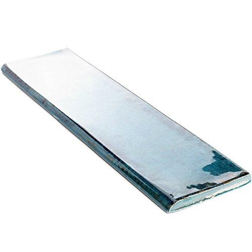 Price comparison product image Ceramic wall tile. Soho Alchimia series (3x12 Bullnose,  Blue)
