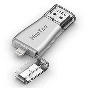 iPhone Flash Drive 32GB USB 3.0 Adapter with Lightning Connector for iPad iPod iOS PC, HooToo External Storage Memory Stick, iPlugmate